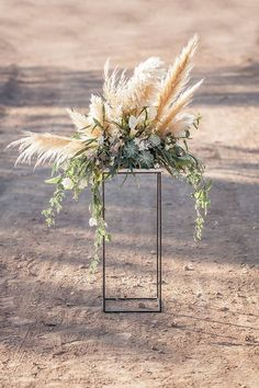 Rustic outdoor holiday wedding decor - Photo by Katie Beverley Photo / http://www.himisspuff.com/pampas-grass-wedding-ideas/5/