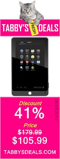 Coby Kyros 7-Inch Android 4.0 4 GB 16:9 Capacitive Multi-Touchscreen Widescreen Internet Tablet with Built-In Camera, Black MID7042-4 $105.99