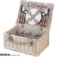 Wiklinowy kosz piknikowy dla czterech osób z wyposażeniem-dukapolska.com-31