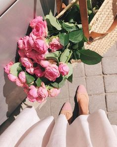 Wrapped up our August collection shoot today! We spent the past week shooting the dresses around Paris ✨ We got extra lucky… such gorgeous pink blooms Flowers Nature, Beautiful Flowers, Spring Flowers, No Rain, Flower Aesthetic, Gal Meets Glam, Planting Flowers, Wedding Flowers, Floral Wreath