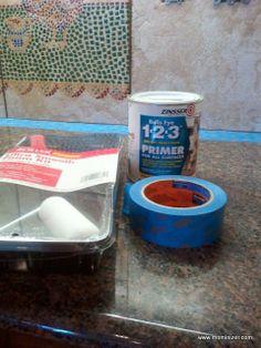 Painting Backsplash Tile Prep - Rubbing Alcohol & Zinsser 123 primer