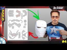 Como fazer um capacete homem de ferro diy / #4 Pepakura Designer - YouTube