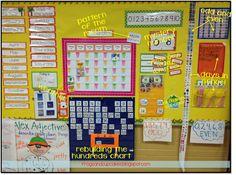 Good classroom organisation ideas and amazing calendar/math board
