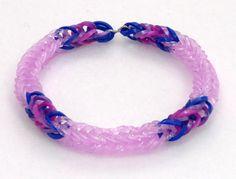 Twilight Sparkle Inspired Friendship Bracelet, My Little Pony Rainbow Loom Stretchy Bracelet, My Little Pony  Bracelet, Brony Fans
