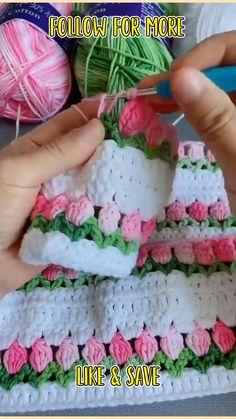 Easy Crochet Stitches, Crochet Square Patterns, Knit Or Crochet, Crochet Gifts, Crochet Designs, Easy Knitting, Start Knitting, Crochet Tops, Things To Crochet