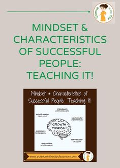 What characteristics make a successful scientist and innovator? Characteristics of scientists, and of successful people in general, can be learned. Mindset can change and develop! Science Topics, Science Lessons, Science Chemistry, Science Resources, Physical Science, Science Activities, Science Experiments, Teaching Resources, Teaching Ideas