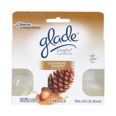 Glade camer woods Plug In | Glade Cashmere Woods PlugIns Scented Oil Refill Twin Pack Fall NE ...