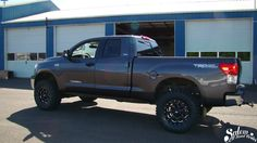 """On this 2013 Toyota Tundra we installed a BDS Suspension 4.5"""" lift with fox 2.0 rear shox. www.salemoffroadcenter.com"""