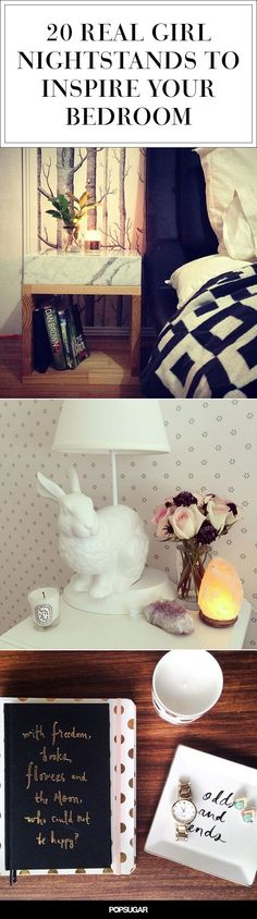 Check out these Instagrams of real girls' bedside tables for your own bedroom