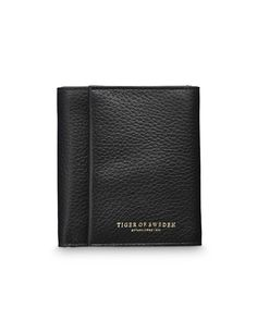 Agnello wallet - Women's trifold wallet in grain leather. Embossed Tiger of Sweden logo. Interior: five card slots; one cash sleeve, one coin compartment with zip closure. Size: 10 x 11 cm. One Coin, Women's Wallets, Tiger Of Sweden, Wallets For Women, Card Holder, Size 10, Closure, Zip, Logo