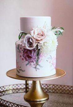 33 Exquisite Mini Wedding Cakes For Your Inspiration ❤ mini wedding cakes flower watercolor cake drakephotographyfl #weddingforward #wedding #bride