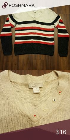 Christopher & Banks Striped Sweater Excellent condition; size small but would most likely also fit a medium Christopher & Banks Sweaters Crew & Scoop Necks