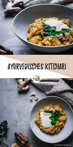 A delicious Ayurvedic Kitchari is now super delicious in winter and helps you to survive the winter healthy and fit! recipe Ayurvedic Kitchari: Ayurveda Special in January Budget Freezer Meals, Cooking On A Budget, Clean Eating Dinner, Clean Eating Recipes, Recetas Whole30, Clean Dinners, Healthy Dinner Recipes, Vegetarian Recipes, Healthy Breakfasts