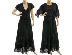 Artsy hand dyed boho maxi dress summer dress with von classydress