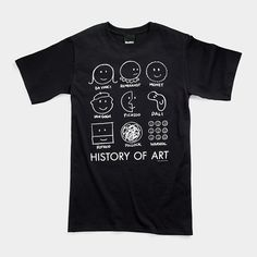 History of Art T-Shirt -- he is about to outgrow the one he has...