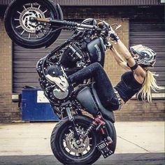 Awesome stuntwoman