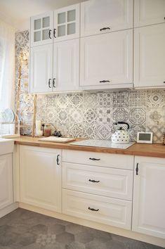 Kitchen Room Design, Home Decor Kitchen, Interior Design Kitchen, Country Kitchen, Kitchen Furniture, New Kitchen, Home Kitchens, Small Kitchen Backsplash, Kitchen Ideas