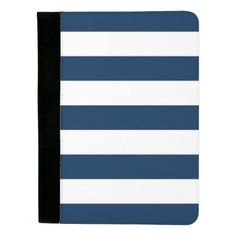 Navy Stripe Padfolio