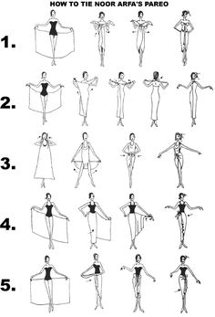 Ways to wear a sarong/pareo. I think these instructions migh.- Ways to wear a sarong/pareo. I think these instructions might be easier if the f… Ways to wear a sarong/pareo. I think these instructions might be easier if the fabric had a nice long tie - Look Fashion, Diy Fashion, Ideias Fashion, Fashion Design, Fashion Mode, Beach Style Fashion, Fashion Beauty, Fashion Skirts, Fashion Trends