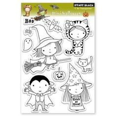Penny Black Clear Stamps MIMI HALLOWEEN 30-077                                                                                                                                                      More