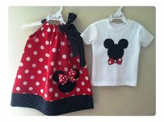 Brother and Sister Disney set Minnie Mouse by fridascloset1, $38.00 by robbie