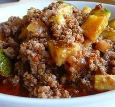 """Zucchini & Ground Beef Casserole: """"I really wasn't expecting as much flavor as this dish delivered! I used chunky, medium-spicy salsa and served it with flour tortillas."""" -Susie D (Chicken Chili With Salsa)"""