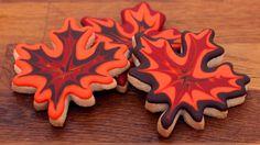 Herbstblätter Cookies