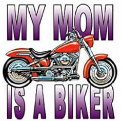 My Mom Is A Biker HEAT PRESS TRANSFER for T Shirt Tote Sweatshirt Fabric #420 #AB
