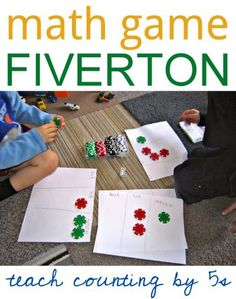 Fun math game for kids to play at home. Teaches counting by fives and simple addition.