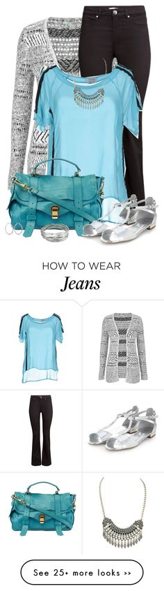 """""""Grey + Turquoise"""" by jafashions on Polyvore"""