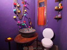 Decoración | Grandes ideas - espacios chicos | Baño en Violeta | Utilisima.com