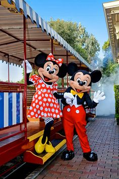 Mickey and Minnie at Disneyland