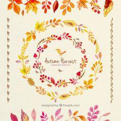 手描き秋の収穫