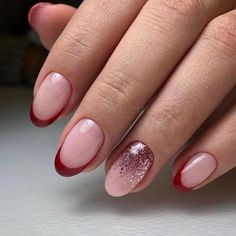 May 2019 - french nails with a twist Polish French Nails, French Acrylic Nails, Uv Gel Nails, Diy Nails, Cute Nails, French Nail Designs, Diy Nail Designs, Gel Nagel Design, Nagel Hacks
