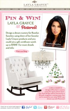 """LG's """"Pin It to Win It"""" nursery design contest for Roselyn Sanchez. For more details & info visit our blog: http://bit.ly/LG0305"""