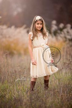 flower girl dress ivory flower girl dress girls by KhambralCouture