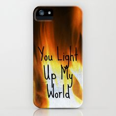 You Light Up My World iPhone Case by Shawn Terry King