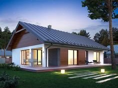 A&M Landscaping Arlington Tx Code: 7170197875 Small House Floor Plans, Simple House Plans, My House Plans, Bungalow House Design, Small House Design, Small Contemporary House Plans, Cute Small Houses, Sweden House, Beautiful House Plans