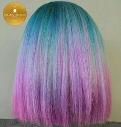 Blue roots with purple ends