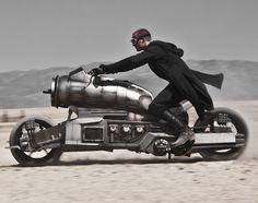 Dieselpunk motorcycle.