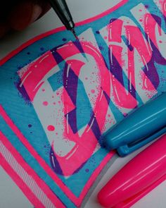 Even tho this is not the final version this is just a little detail of a really cool fresh out of the oven commissioned art by @paulholstein #wip #art #workinprogress #detail #inspiration #type #typography #grateful #sharpie #neon #tipografia #letras #design #graphicart #lefty #color # by el_juantastico