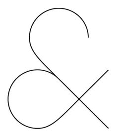 #typography #ampersand | aww, crisp & pretty ampersand