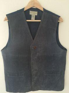 Vintage Arizona Suede Leather Button Up Vest - Size Medium by... #CafeMotique #ColoradoSprings #vintagelifestyle #caferacer #vintagemoto