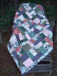 Check out this item in my Etsy shop https://www.etsy.com/listing/172303941/navy-blue-and-pink-floral-lap-throw