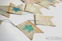 DIY: guirnalda de papel de periódico