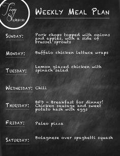 Weekly Meal Plan | TinySophisticate