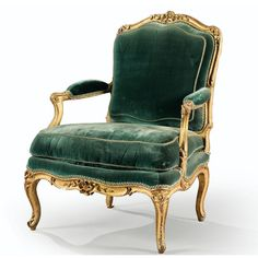 A Louis XV fauteuil stamped C. Sene. Est. 8,000 - 12,000 EUR. Image courtesy of Sotheby's.