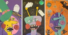 S art room: picasso monsters! i've seen picasso s Halloween Art Projects, Theme Halloween, Fall Art Projects, Classroom Art Projects, School Art Projects, Art Classroom, Halloween Prop, Halloween Witches, Halloween Stuff
