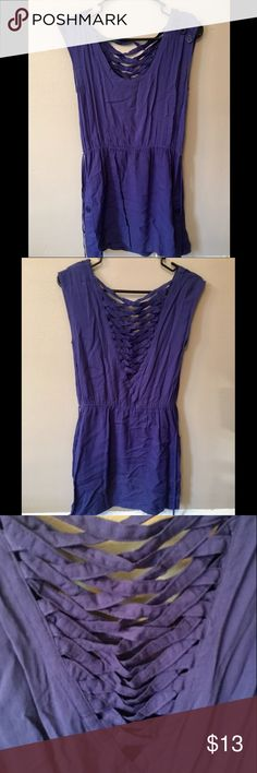 Lace up back summer dress Great condition, this dress has a beautiful lace up detail in the back Forever 21 Dresses Mini