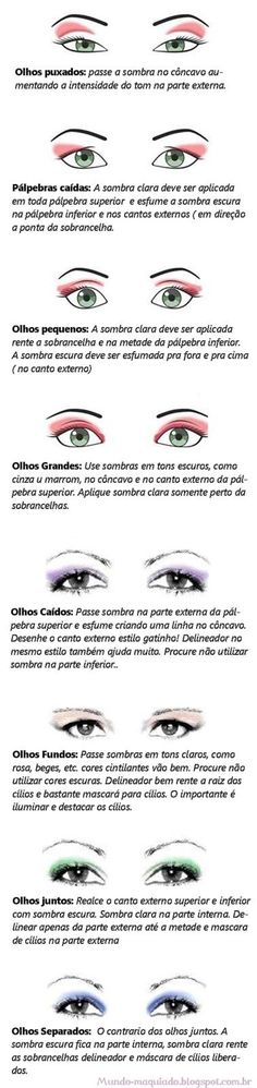 ❀❀ Mundo Maquiado ❀❀: Dica: Maquiagem para cada tipo de olho